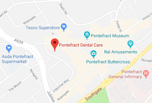 Pontefract Dental Care map