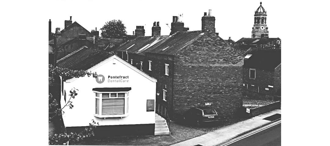 Pontefract dental care premises and castle slider Image