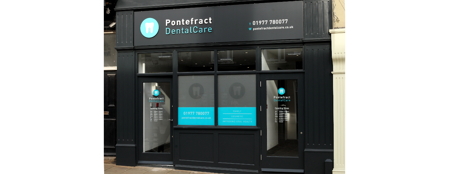 Pontefract dental care home page main image