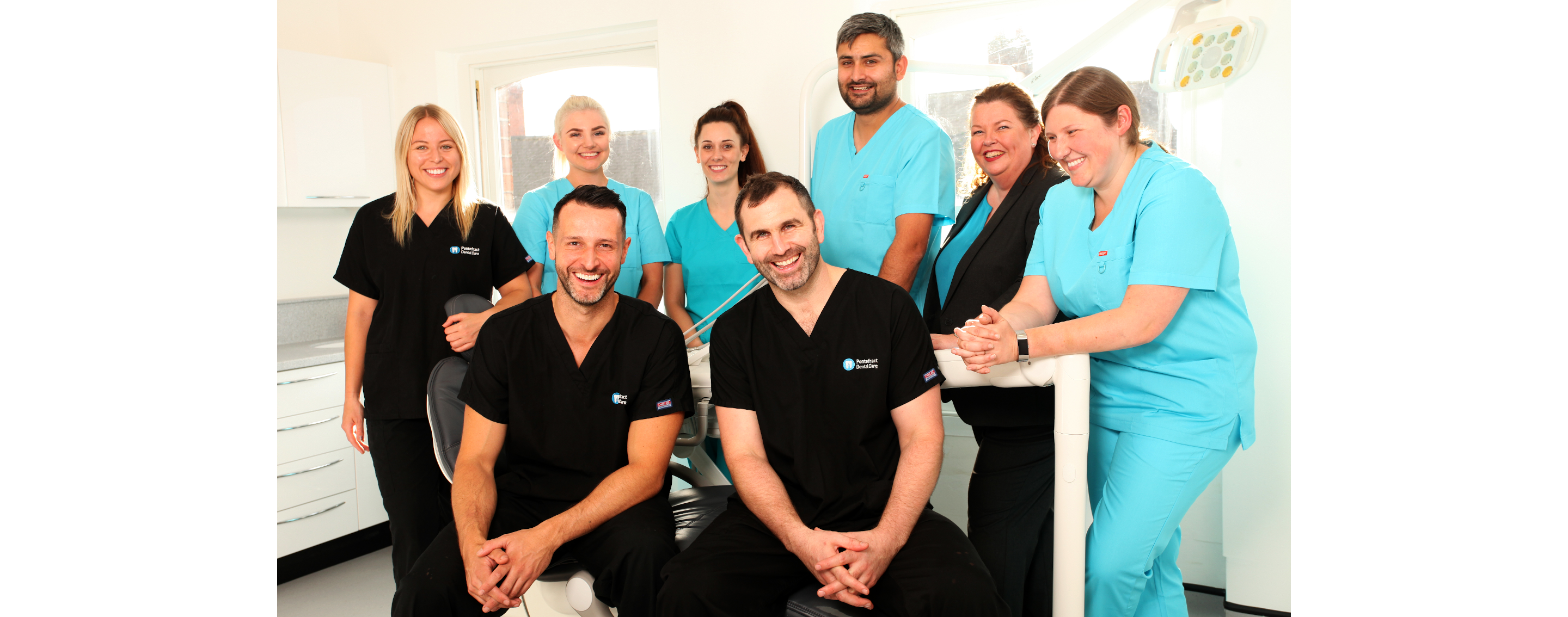 Pontefract dental care dentists and staff group photo